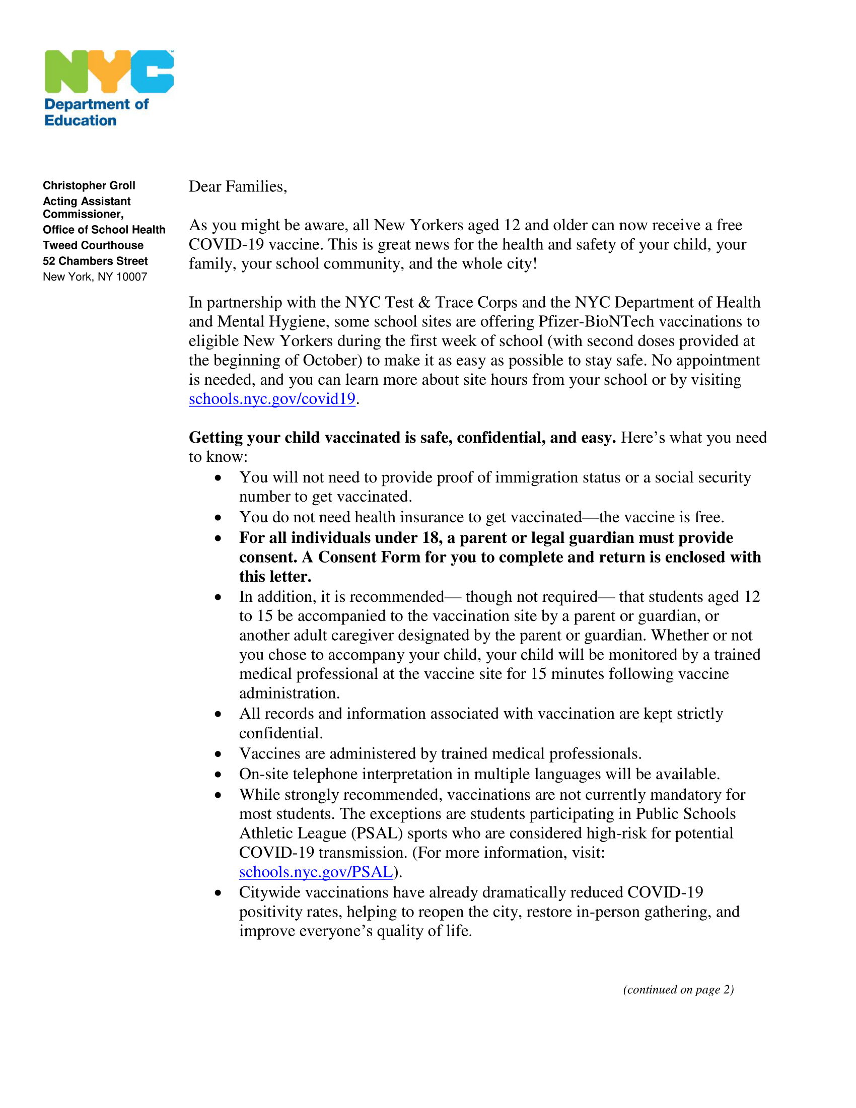 Vaccine Family Letter with Consent Form-1